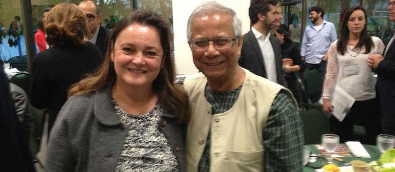 Director Mara Mourao & Muhammad Yunus